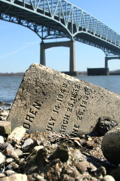 The Tombstones on the Delaware River shore