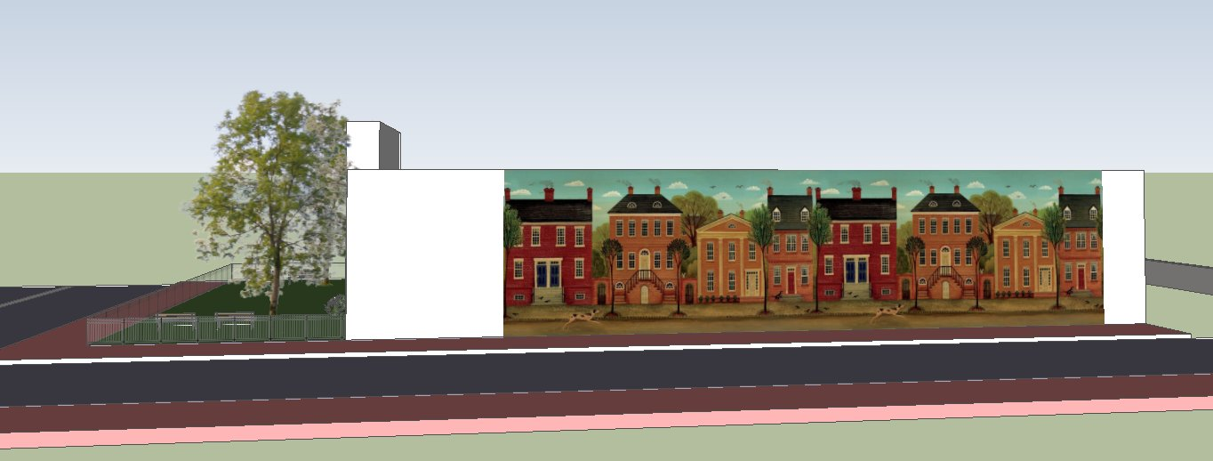 Full Scale Mural and Replacement Building Concept