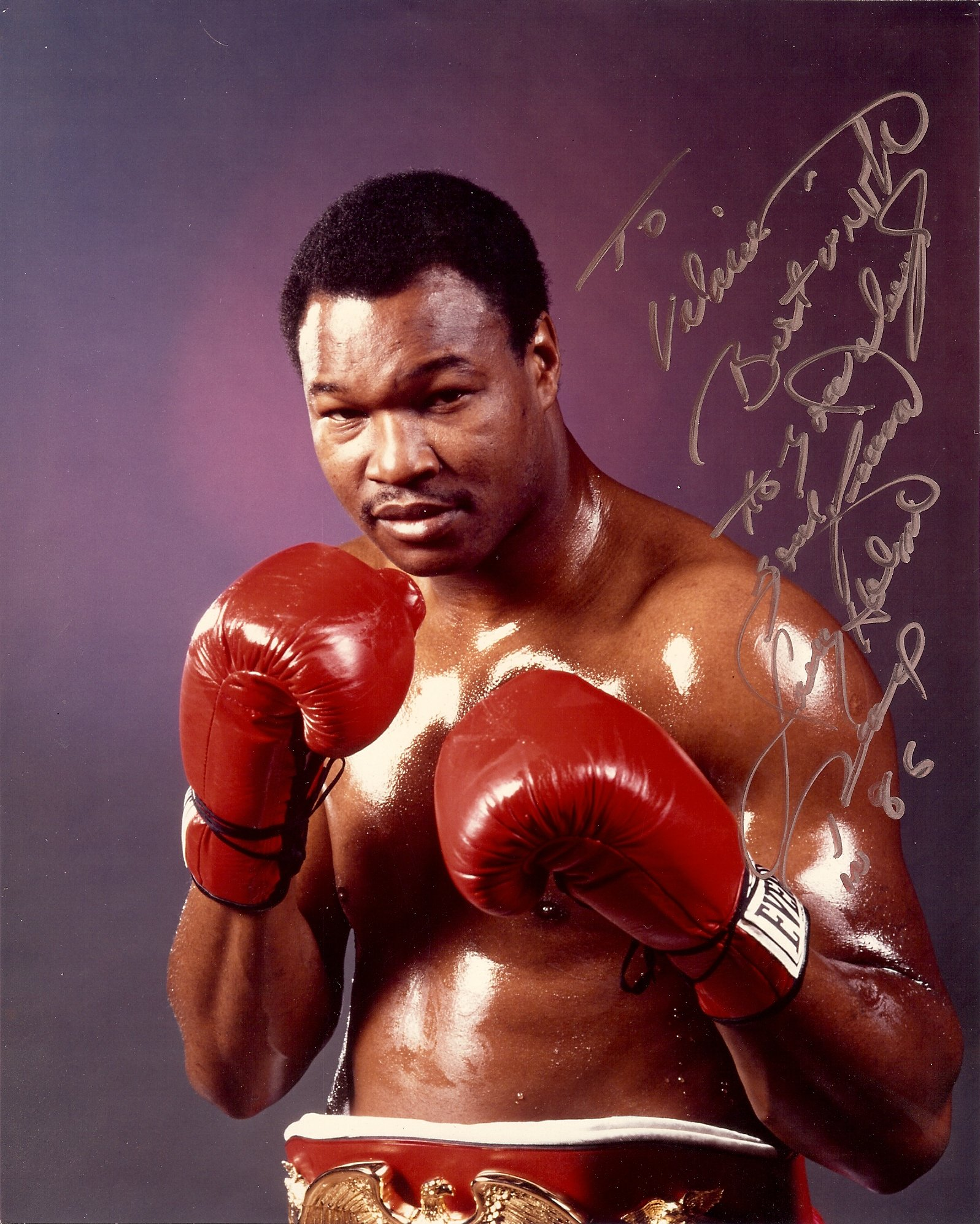 Larry Holmes autographed picture