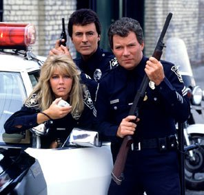 T.J. Hooker with James Darren, William Shatner and Heather Locklear