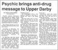 Psychic brings anti-drug message to Upper Darby